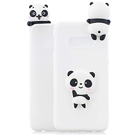 voordelige Galaxy S7 Edge Hoesjes / covers-hoesje Voor Samsung Galaxy S9 / S9 Plus / S8 Plus Mat / Patroon Achterkant Panda Zacht TPU