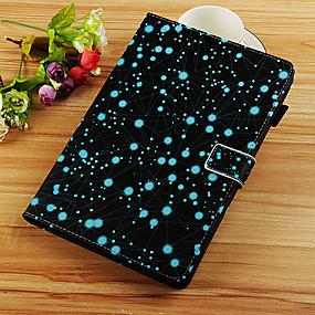 voordelige Galaxy Tab E 9.6 Hoesjes / covers-hoesje Voor Samsung Galaxy Tab S4 10.5 (2018) / Tab A2 10.5(2018) T595 T590 / Tab S2 9.7 Portemonnee / Kaarthouder / met standaard Volledig hoesje Landschap / Bloem Hard PU-nahka