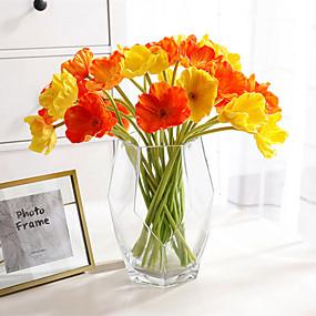 رخيصةأون أزهار اصطناعية-زهور اصطناعية 10 فرع كلاسيكي أنيق أوروبي خشخاش نبات مخدر أزهار الطاولة