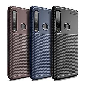 Недорогие Чехлы и кейсы для Galaxy A8-Кейс для Назначение SSamsung Galaxy Galaxy A7(2018) / A9 Star / A8 Защита от пыли Кейс на заднюю панель Однотонный / Полосы / волосы Мягкий ТПУ