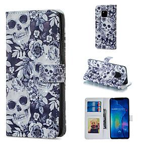 Недорогие Чехлы и кейсы для Huawei Mate-Кейс для Назначение Huawei Huawei Honor 10 / Huawei Honor 8X / Honor 7A Кошелек / Бумажник для карт / со стендом Чехол Черепа Твердый Кожа PU