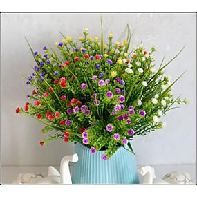 رخيصةأون أزهار اصطناعية-زهور اصطناعية 5 فرع كلاسيكي دعامات النمط الرعوي نباتات ورادت ناعمة الزهور الخالدة أزهار الطاولة