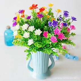 رخيصةأون أزهار اصطناعية-زهور اصطناعية 5 فرع كلاسيكي دعامات النمط الرعوي نباتات لوتس الزهور الخالدة أزهار الطاولة