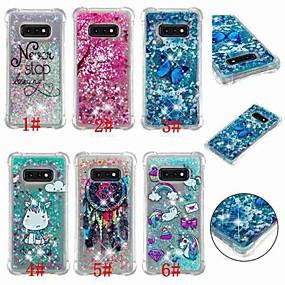 voordelige Galaxy S7 Hoesjes / covers-hoesje Voor Samsung Galaxy S9 / S9 Plus / S8 Plus Schokbestendig / Stromende vloeistof / Transparant Achterkant Vlinder / Eenhoorn / Glitterglans Zacht TPU