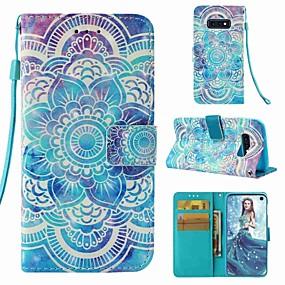 voordelige Galaxy S7 Edge Hoesjes / covers-hoesje Voor Samsung Galaxy S9 / S9 Plus / S8 Plus Portemonnee / Kaarthouder / Flip Volledig hoesje Mandala Hard PU-nahka