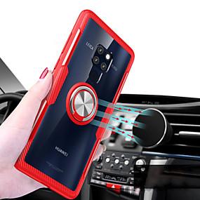 Недорогие Чехлы и кейсы для Huawei Mate-Кейс для Назначение Huawei Mate 10 pro / Huawei Mate 20 lite / Huawei Mate 20 pro Кольца-держатели / Прозрачный Кейс на заднюю панель Однотонный Твердый Силикон