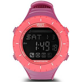 olcso Női sportórák-Női Sportos óra Japán Digitális Sportos Stílusos Gumi Vattacukorrózsaszín 100 m Vízálló Smart Bluetooth Digitális Szabadtéri Divat - Arcpír rózsaszín Egy év Akkumulátor élettartama / LCD