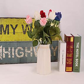 رخيصةأون أزهار اصطناعية-زهور اصطناعية 5 فرع كلاسيكي دعامات أوروبي الورود الزهور الخالدة أزهار الطاولة