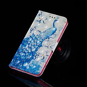 Недорогие Чехлы и кейсы для Huawei серии Y-Кейс для Назначение Huawei Huawei Nova 3i / Huawei Honor 9 Lite / Huawei Honor 8X Кошелек / Бумажник для карт / со стендом Чехол Животное Твердый Кожа PU