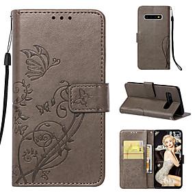 voordelige Galaxy S6 Edge Plus Hoesjes / covers-hoesje Voor Samsung Galaxy S9 / S9 Plus / S8 Plus Portemonnee / Kaarthouder / met standaard Volledig hoesje Effen / Vlinder / Bloem Hard PU-nahka
