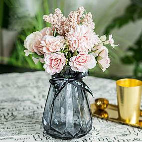 رخيصةأون أزهار اصطناعية-زهور اصطناعية 1 فرع كلاسيكي الزفاف Wedding Flowers أرطنسية الزهور الخالدة أزهار الطاولة