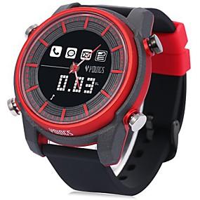 olcso Női sportórák-Női Sportos óra Japán Digitális Gumi Fekete 100 m Vízálló Bluetooth LCD Analóg - Digitális Divat Színes - Sötétvörös Egy év Akkumulátor élettartama / Világítás / Panasonic CR2025
