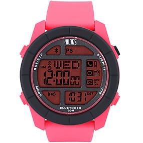olcso Női sportórák-Női Sportos óra Japán Japán kvarc Gumi Fekete 100 m Vízálló Smart Bluetooth Digitális Szabadtéri Divat - Piros Egy év Akkumulátor élettartama / LCD / Panasonic CR2025