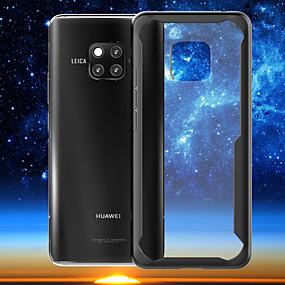 Недорогие Чехлы и кейсы для Huawei Mate-Кейс для Назначение Huawei Mate 10 / Mate 10 pro / Huawei Mate 20 lite Ультратонкий / Прозрачный Кейс на заднюю панель Однотонный Твердый ПК