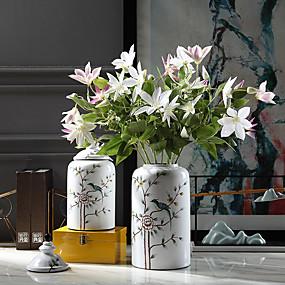 رخيصةأون أزهار اصطناعية-زهور اصطناعية 3 فرع كلاسيكي التقليدية / الكلاسيكية أسلوب بسيط لوتس الزهور الخالدة أزهار الطاولة