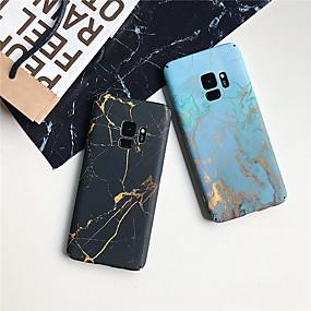 olcso Galaxy S9 tokok-Case Kompatibilitás Samsung Galaxy S9 / S9 Plus / S8 Plus Ultra-vékeny / Minta Fekete tok Márvány Kemény PC