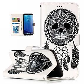 voordelige Galaxy S7 Hoesjes / covers-hoesje Voor Samsung Galaxy S9 Plus / S8 Plus / S8 Portemonnee / Schokbestendig / Strass Volledig hoesje Mandala / Doodskoppen / Bloem Hard PU-nahka