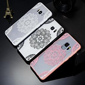 voordelige Galaxy S7 Edge Hoesjes / covers-hoesje Voor Samsung Galaxy S9 / S9 Plus / S8 Reliëfopdruk / Patroon Achterkant Lace Printing Hard PC