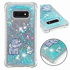 voordelige Galaxy S7 Edge Hoesjes / covers-hoesje Voor Samsung Galaxy S9 / S9 Plus / S8 Plus Schokbestendig / Stromende vloeistof / Transparant Achterkant Glitterglans / Olifant Zacht TPU