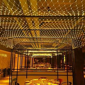 povoljno LED svjetla u traci-6m * 4m 672 leds neto svjetla zavjese svjetla whitewarm whitebluemulti boja stranke dekorativni povezati 220-240v 1pc