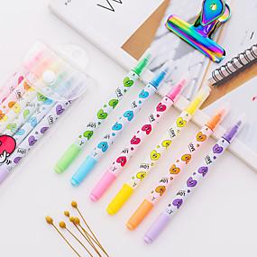 رخيصةأون أٌقلام رصاص و أقلام-قذيفة البلاستيك قوس قزح 6PCS أقلام / قلم لون الماء 15*6*1 cm