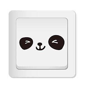 رخيصةأون ملصقات ديكور-لواصق مفتاح الاضاءة - ملصقات الحائط الحيوان حيوانات غرفة الجلوس / غرفة النوم / مطبخ