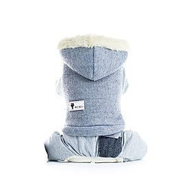 preiswerte Haustierzubehör-Hunde Mäntel Austattungen Solide Lässig / Alltäglich Warm-Ups Draussen Winter Hundekleidung Rosa Grau Kostüm Plüsch XS S M L XL