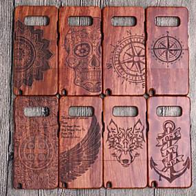 Недорогие Чехлы и кейсы для Galaxy Note 8-Кейс для Назначение SSamsung Galaxy Note 9 / Note 8 Защита от удара Кейс на заднюю панель Имитация дерева Твердый деревянный