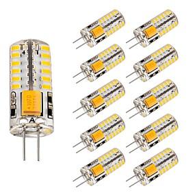 ieftine Becuri LED Bi-pin-10pcs 3 W Becuri LED Bi-pin 220 lm G4 T 48 LED-uri de margele SMD 3014 Încântător Alb Cald Alb Rece 12 V
