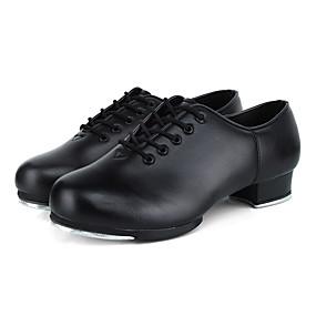 povoljno MEN SALE-Muškarci Plesne cipele Koža Cipele za step Štikle Debela peta Moguće personalizirati Crn / Seksi blagdanski kostimi / Vježbanje