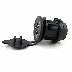 Недорогие Автомобильные зарядные устройства-LOSSMANN Автомобили / Грузовик / Мотоцикл Автомобильное зарядное устройство 2 USB порта для 5 V / водостойкий / Устойчивость к УФ / На открытом воздухе / горячий / Для кроссовера