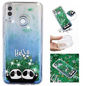 Недорогие Чехлы и кейсы для Huawei Mate-Кейс для Назначение Huawei Huawei Honor 10 / Huawei Honor 8X / Mate 10 lite Движущаяся жидкость / С узором / Сияние и блеск Кейс на заднюю панель Сияние и блеск / Панда Мягкий ТПУ