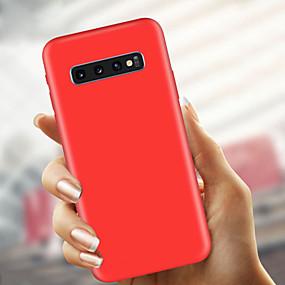 olcso Galaxy S9 Plus tokok-Case Kompatibilitás Samsung Galaxy S9 / S9 Plus / S8 Plus Ultra-vékeny / Jeges Fekete tok Egyszínű Puha TPU