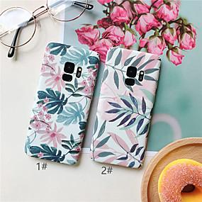 voordelige Galaxy S7 Edge Hoesjes / covers-hoesje Voor Samsung Galaxy S9 / S9 Plus / S8 Plus Ultradun / Patroon Achterkant Planten / Bloem Hard PC
