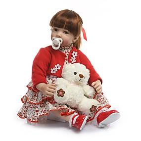 olcso Játékok & hobbi-NPKCOLLECTION NPK DOLL Reborn Dolls Lány babák 24 hüvelyk Ajándék Kézzel készített Mesterséges beültetés barna szemek Gyerek Lány Játékok Ajándék