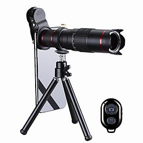 olcso Mobiltelefon kamera-Mobiltelefon Lens Hosszú gyújtótávolságú lencse üveg / Műanyag és fém / Alumínium ötvözet 20X makró 35 mm 3 m 13 ° Lencse és állvány / Kreatív / Új design