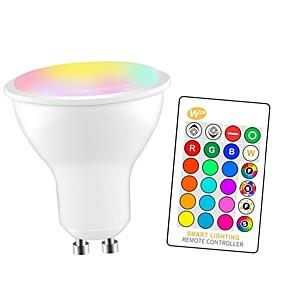 olcso LED okos izzók-1db 5 W Okos LED izzók 350 lm GU10 E26 / E27 3 LED gyöngyök SMD 5050 Smart Tompítható Parti RGBW 85-265 V / RoHs
