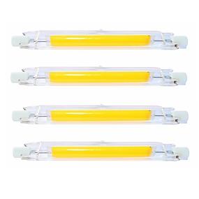 olcso LED fénycsövek-SENCART 4db 9 W Fénycsövek 900 lm R7S T 1 LED gyöngyök COB Vízálló Forgatható Tompítható Meleg fehér Hideg fehér 220-240 V