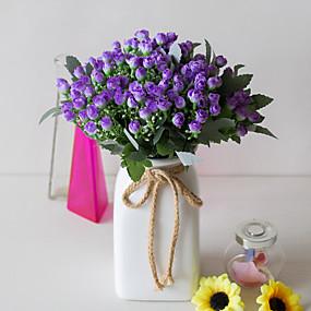 رخيصةأون أزهار اصطناعية-زهور اصطناعية 5 فرع كلاسيكي دعامات النمط الرعوي الورود نباتات أزهار الطاولة