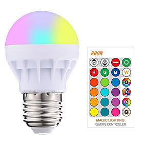 olcso LED okos izzók-1db 3 W Okos LED izzók 200-250 lm E26 / E27 1 LED gyöngyök SMD 5050 Smart Tompítható Távvezérlésű RGBW 85-265 V / RoHs
