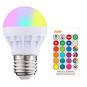 hesapli LED Akıllı Ampuler-1pc 3 W LED Akıllı Ampuller 200-250 lm E26 / E27 1 LED Boncuklar SMD 5050 Smart Kısılabilir Uzaktan Kumandalı RGBW 85-265 V / RoHs