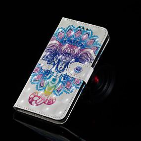 Недорогие Чехлы и кейсы для Huawei серии Y-Кейс для Назначение Huawei Huawei Nova 3i / Huawei Honor 9 Lite / Huawei Honor 8X Кошелек / Бумажник для карт / со стендом Чехол Слон Твердый Кожа PU