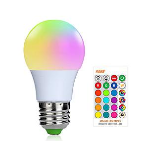 olcso LED okos izzók-1db 3 W Okos LED izzók 200-250 lm E26 / E27 1 LED gyöngyök SMD 5050 Smart Tompítható Távvezérlésű RGBW 85-265 V / RoHs / FCC