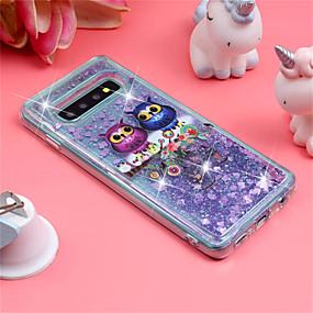voordelige Galaxy S7 Edge Hoesjes / covers-hoesje Voor Samsung Galaxy S9 / S9 Plus / S8 Plus Schokbestendig / Stromende vloeistof / Patroon Achterkant Uil / Glitterglans Zacht TPU