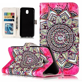 cheap Galaxy J5(2016) Cases / Covers-Case For Samsung Galaxy J7 (2017) / J7 (2016) / J5 (2017) Wallet / Shockproof / Rhinestone Full Body Cases Mandala / Skull / Flower Hard PU Leather
