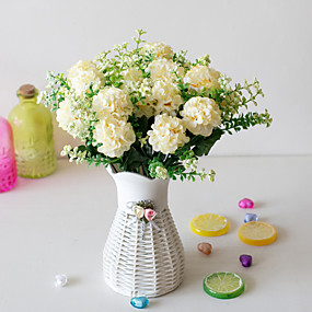 رخيصةأون أزهار اصطناعية-زهور اصطناعية 5 فرع كلاسيكي دعامات النمط الرعوي أرطنسية الزهور الخالدة أزهار الطاولة