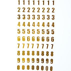 olcso Matricák & Ragasztószalagok-Aranyozott / Ezüstös 1 db Matricák & Ragasztószalagok 9.5*17.5 cm