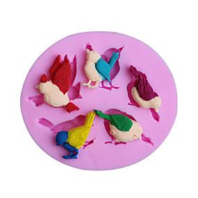 رخيصةأون المطبخ و السفرة-الطيور سيليكون كعكة قوالب أدوات تزيين الكعكة عيد gumpaste فندان الشوكولاته