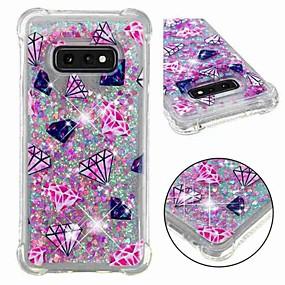 voordelige Galaxy S7 Hoesjes / covers-hoesje Voor Samsung Galaxy S9 / S9 Plus / S8 Plus Schokbestendig / Stromende vloeistof / Transparant Achterkant Landschap / Glitterglans Zacht TPU