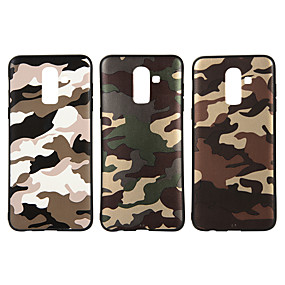 voordelige Galaxy J5(2017) Hoesjes / covers-hoesje Voor Samsung Galaxy J8 (2018) / J7 Prime / J7 (2017) Mat / Patroon Achterkant Camouflage Kleur Zacht TPU